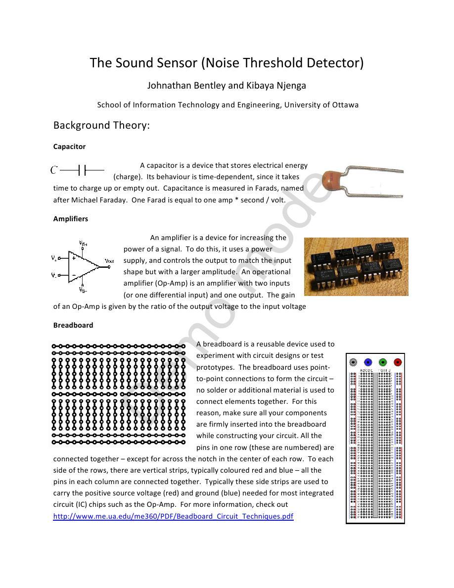 Sound Sensor Detector Using Lm324