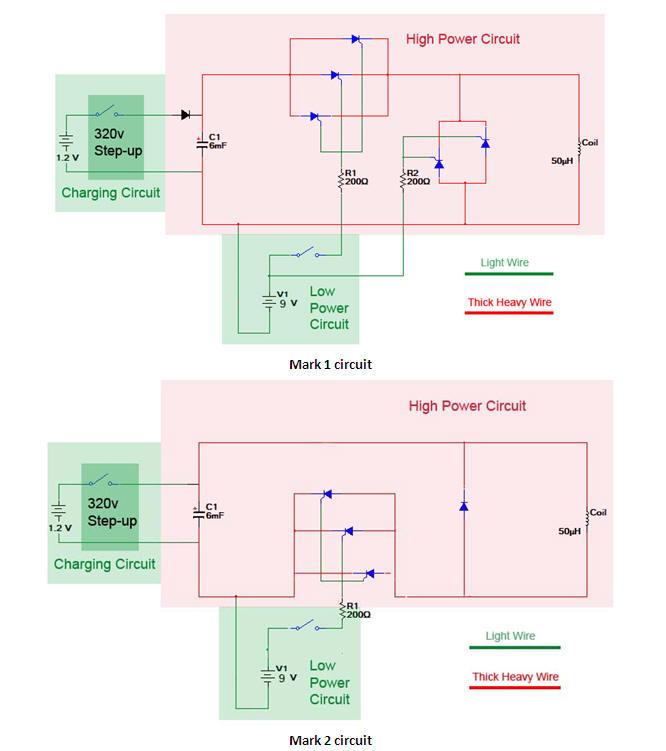 Coil Gun Circuit Diagram | Crime Fighting Coil Gun